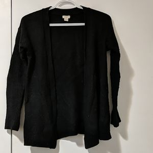 J. Crew black open cardigan